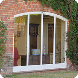 Timber window with shaped head