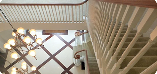 staircase with gallery landing